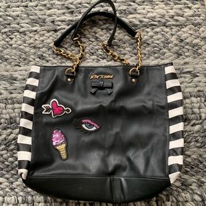 Betsey Johnson Striped Patch Bag - Used Once